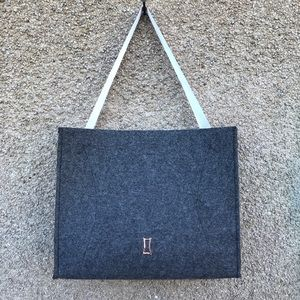 Kit and Ace Tote Bag Felt Grey Flannel Ribbon